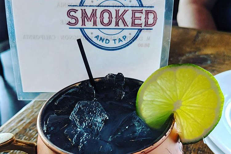 A drink at Smoked