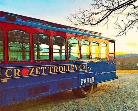 Corzet Trolley sunset wine tour trolley