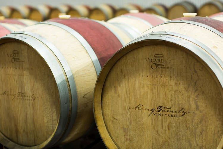 King Family Vineyards barrels
