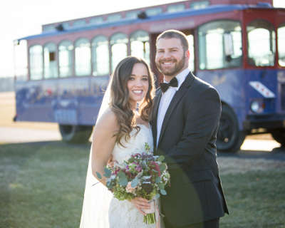 Unique wedding charter transportation from Crozet Trolley