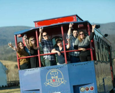 chartered Crozet Trolley riders